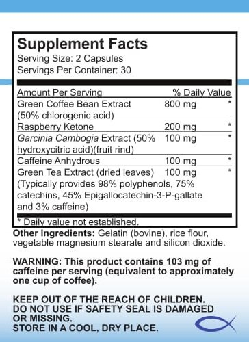 Natural Weight Loss Supplement - Life Vitality Body Shape 4: Green Coffee, Raspberry Ketone, Green Tea, Garcinia Cambogia Complex, 60 Capsules, Non-GMO (6)