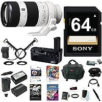 Sony FE 70-200mm Lens, HVLMT24AM Flash, VGC2EM Vertical Grip Bundle