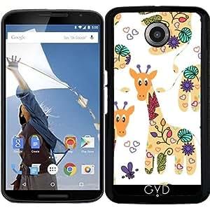 Funda para Motorola Nexus 6 - Modelo De La Jirafa by Luizavictorya72