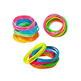 Adorox 288 Bracelets Neon Jelly Bracelets Rainbow Colors Party Favors Birthday Gifts Prizes Assorted (288 Bracelets)