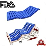 Alternating Pressure Mattress & Pump System - Premium Model with 22 Channels and Waterproof Vinyl Cover - Low Air Loss Hospital Replacement Mattress for Pressure Ulcers - Anti-Decubitus