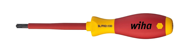 Wiha Schraubendreher SoftFinish® electric PlusMinus/Pozidriv (30700) SL/PZ1 x 80 mm  VDE geprüft, stückgeprüft, ergonomischer Griff für kraftvolles Drehen, Allrounder für Elektriker Wiha Werkzeuge GmbH 3281080