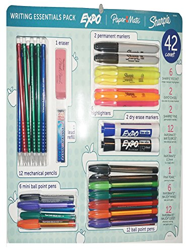 Sharpie, Paper Mate, Expo Writing Essentials 42 Piece Assortment (Papermate Sharpie)