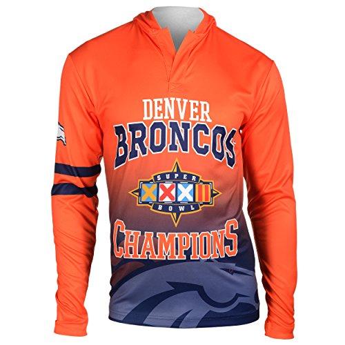 (FOCO NFL Denver Broncos Super Bowl XXXII Champions Hoody Tee, XX-Large)
