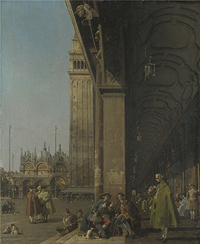 Oil Painting 'Canaletto - Venice - The Piazza San Marco,about 1756' 16 x 19 inch / 41 x 49 cm , on High Definition HD canvas prints is for Gifts - Marco Stores San Outlets