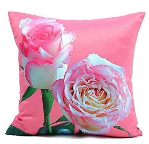 Yancyong 3D Flor Rosa Rosa Cubre Almohadas Almohada ...