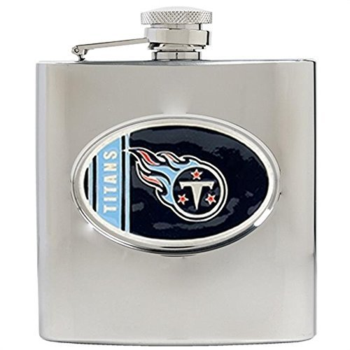 Tennessee Titans Flask - NFL Tennessee Titans 6oz Stainless Steel Hip Flask