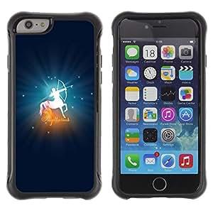 Be-Star único patrón Impacto Shock - Absorción y Anti-Arañazos Funda Carcasa Case Bumper Para Apple iPhone 6(4.7 inches) ( Sagittarius Zodiac Sign )