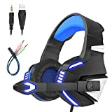 Mengshen Gaming Headset - with Microphone, Noise Isolation, Volume Control, LED Light