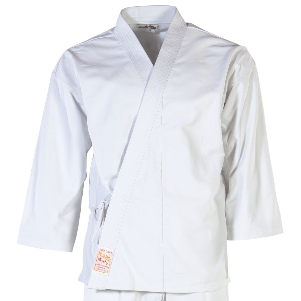 Tiger Claw Karate Uniform 100% Cotton White Hayashi (Top Only) #1 by Tiger Claw