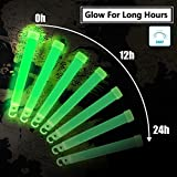 "BUDI Glow Sticks 25Pc 6"" Emergency Light Sticks Premium Bright Light Industrial Grade Colorful& Green Glowsticks with 12h+ Ultra Duration for Glow Party Supplies Camping Hiking Safety Survival Lights"