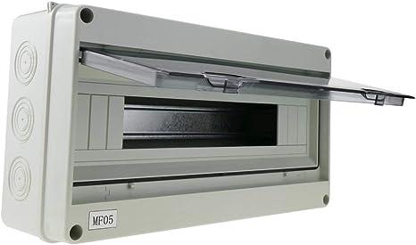 BeMatik - Caja de distribución eléctrica SPN 18M IP65 de Superficie ...