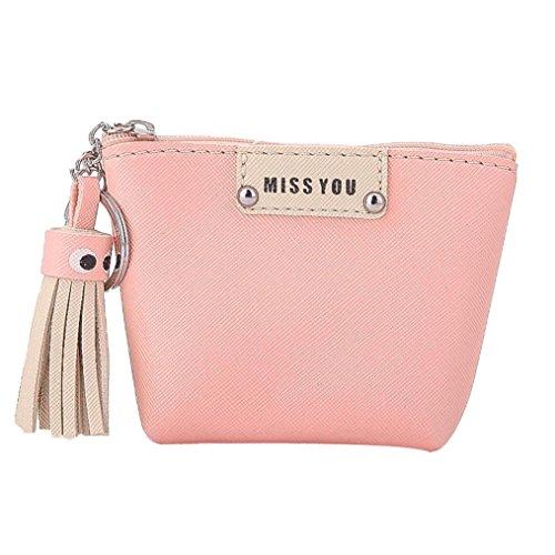 Hot Sale Coin Purse,AmyDong Women Tassel Coin Purse Change Pouch Key Holder Bag Receive Package (Beige Fabric Wallet)