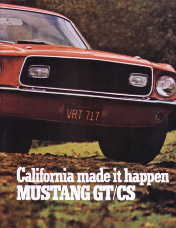 - 1968 FORD MUSTANG GT/CS Sales Brochure Literature Book