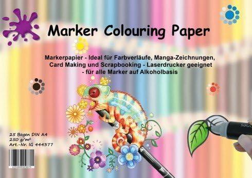 Chameleon pens 22 Set Scrapbooking,... Manga Marker Colouring Paper 25 sheets for Comic 5 Skin Tones