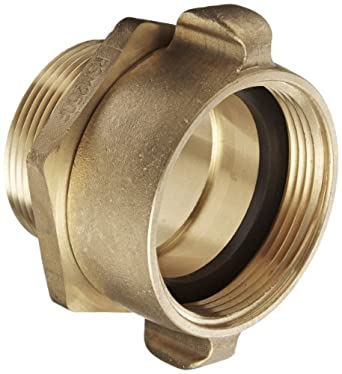 Dixon Valve SM250F Cast Brass Fire Equipment Male Swivel Adapter with Pin Lug Female x 2-1//2 NPT Male NH 2-1//2 NST