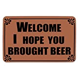 Funny Doormat Welcome Mat Outdoor Non-Slip Rubber Backing Mat Beer Deal (Small Image)
