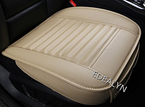 EDEALYN Single seat without backrest PU leather bamboo charcoal Car Seat cushion car seat cover,1pcs (Leather Backrest)