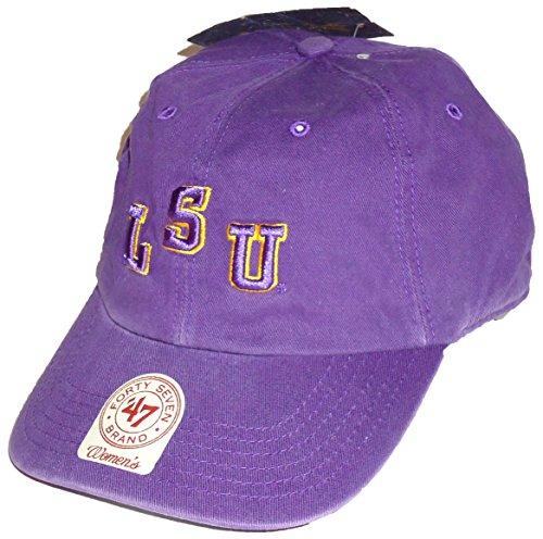 "WOMENS Louisiana State Tigers (LSU) 47Brand NCAA Strapback Hat Cap (Purple) ""College Vault Slouch"""