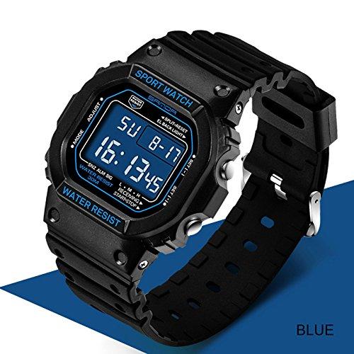 c6bc68b187c Buy Sanda Waterproof Luxury Analog Quartz LED Digital Sports Watch For Men  - Blue   Black Online at Low Prices in India - Amazon.in