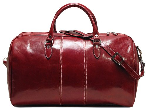 Red Leather Duffle Bag - 6