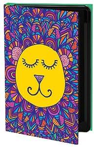 Keka Classic - Funda con tapa para Samsung Galaxy S4 (diseño de león dormido de Kathryn Pledger)