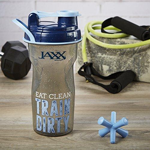 Fit & Fresh Jaxx 28oz Shaker Bottle with Leak-Proof Lid (Eat Clean, Train Dirty)