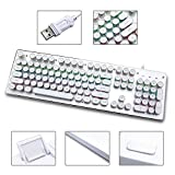 Typewriter Keyboard Retro Keyboard LED Rainbow