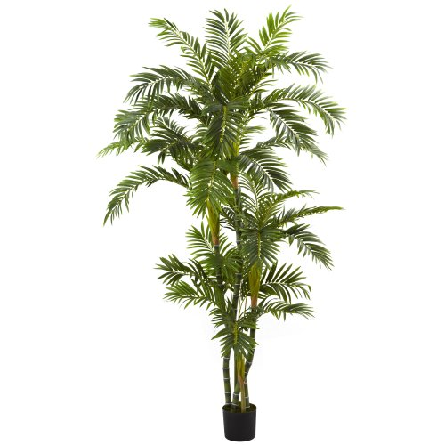 Nearly Natural 5348 Curvy Parlor Palm Silk Tree, 6-Feet, Green