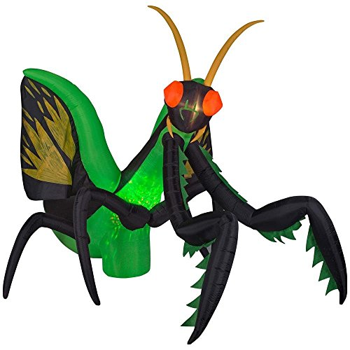 Gemmy Huge 10.5 ft. Long Halloween Inflatable Projection Kaleidoscope Preying Mantis Yard