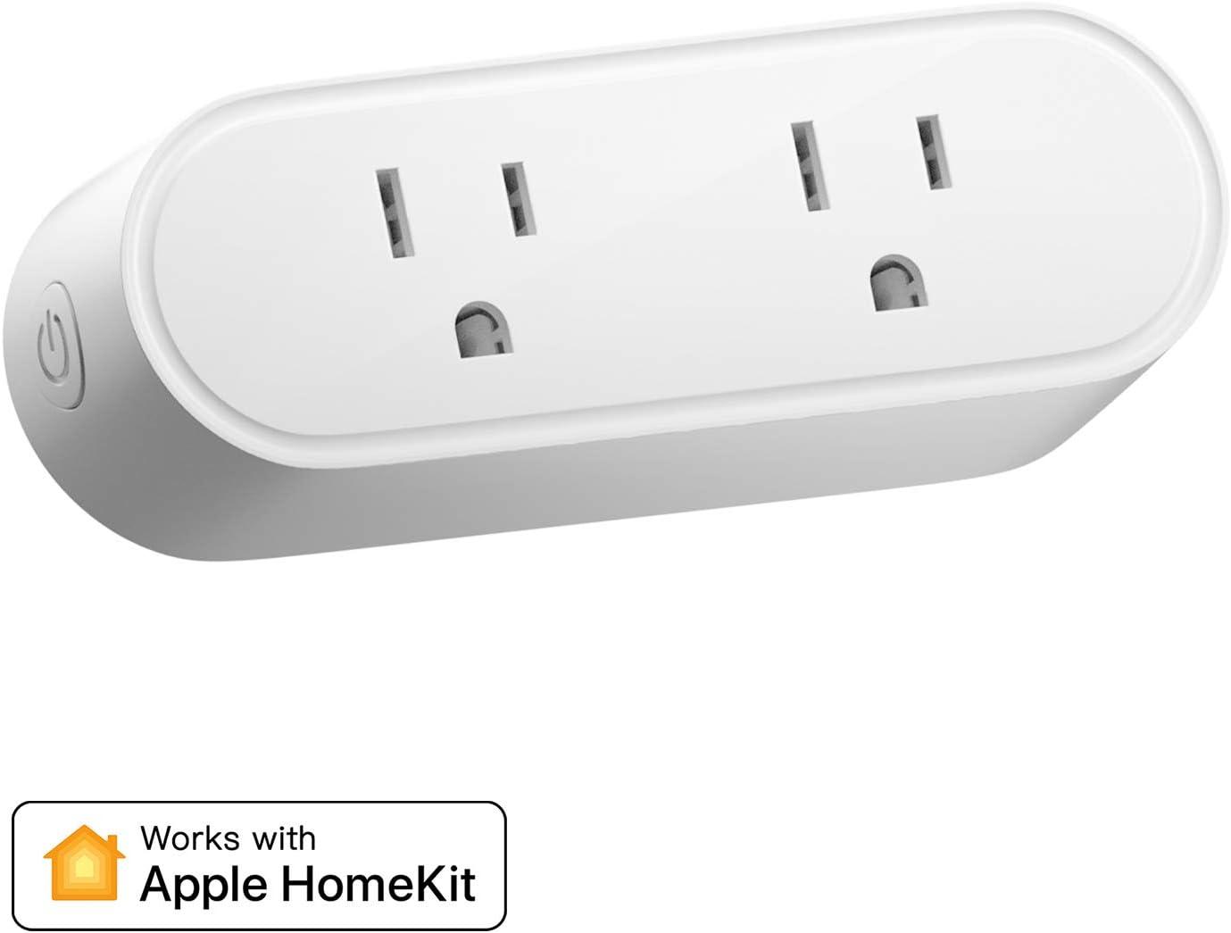 Wireless Remote Control Timer Switch HomeKit Smart Plug Meross WiFi Plug That Works with Alexa HomePod Siri and Google Home 2 Pack
