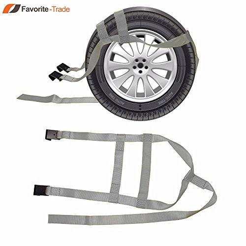 2x DEMCO Car Basket Straps Adjustable Tow Dolly Wheel Net Tire Flat Hook G by Favorite-trade