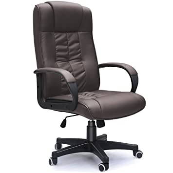 brown leather office chairs. Padded Brown Leather Office Chair For Home Or Executive Computer Pc Seat Chairs 5