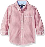 Tommy Hilfiger Baby-Boys Long Sleeve Striped Woven Shirt