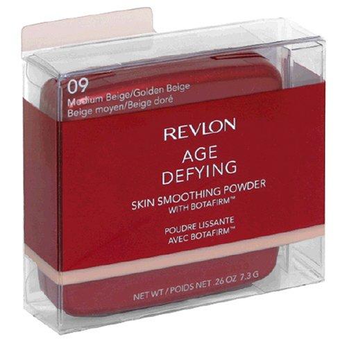 Revlon Age Defying Skin Smoothing Powder with Botafirm, Medium Beige/Golden Beige 09, 0.26 Ounce (Cologne Revlon Set)