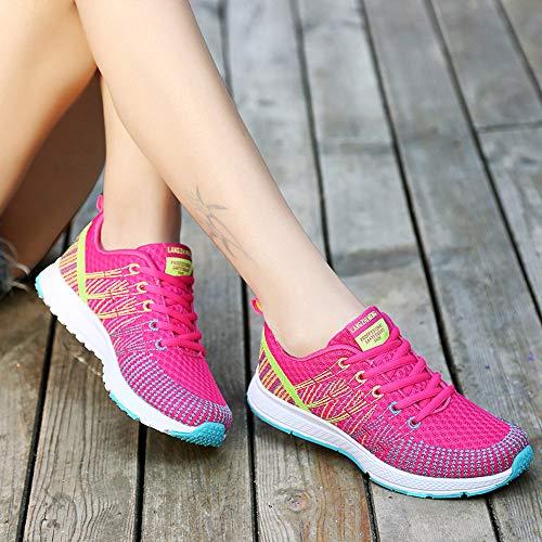 Zapatos Aire Mujer De Al Caliente Yoga Deportivo Exterior Fitness Deportivas Casual Running Libre Zapatillas Rosa Sneakers Calzado qtg7wPx