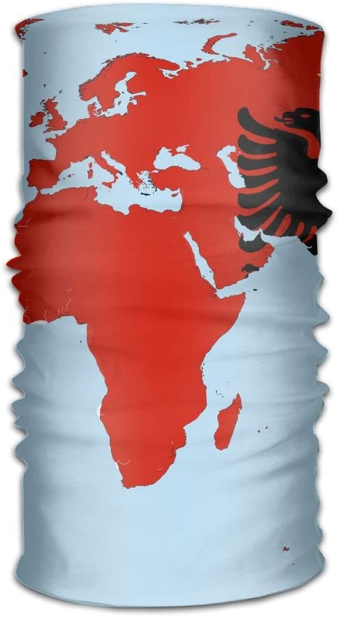 Albania Flag Unisex Fashion Quick-Drying Microfiber Headdress Outdoor Magic Scarf Neck Neck Scarf Hooded Scarf Super Soft Handle