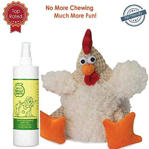 Bitter Apple Spray for Dogs 16oz with Dog Chew Toy