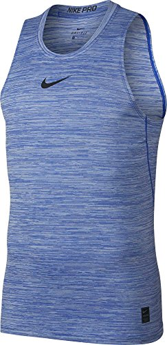 NIKE Men's Pro Fitted Compression Tank Top (Hyper Royal/Black, X-Large)