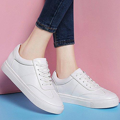 White Individuales Zapatos Con amp;G Casuales Para Zapatos Zapatos Blancos NGRDX Estudiantes Deportivos Zapatos XqH47gw