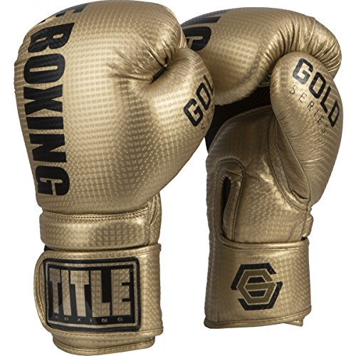 TITLE Gold Series Surpass Bag Gloves, Gold, 14 oz ()