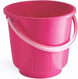 All Time Plastic Plastic 16 Liters Bucket, Pink,