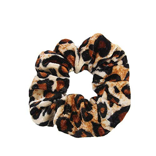 MOPOLIS Hot womens hair circle retro leopard spotted hair ring fabric hair accessories | Color - Leopard #3