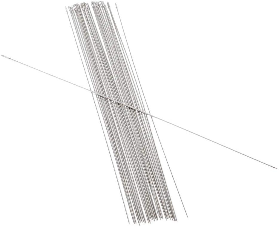 0,45 x 55 mm IPOTCH 30 St/ück Perlennadel Halskette Armb/änder Perlen Handwerkzeuge N/äharbeit Zubeh/ör gro/ße Augen f/ür DIY Perlen Schmuck Machen