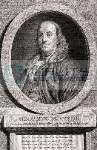 1778 Benjamin Franklin Portrait [16 x 24 - Bifocals Invention The Of