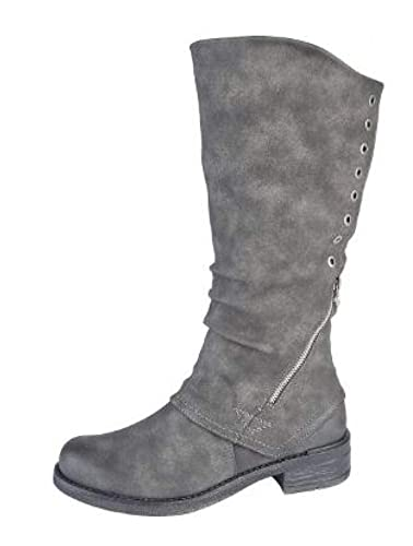 e233c536295 Cipriata L779F-5 UK   38 EU Grey High Leg Boot  Amazon.co.uk  Shoes ...