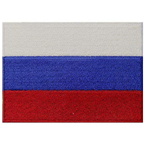 Russia Flag Patch Embroidered Applique Russian Federation Iron On Sew On National ()