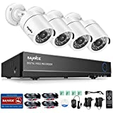 SANNCE 8CH Security Camera System 1080N DVR Reorder with NO Hard Drive and (4) HD 1500TVL Outdoor CCTV Cameras with IP66 Weather Proof and Motion Detection