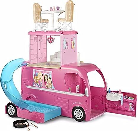 Nuovo A Drf31 Camper Barbie PianiBambole Mattel Italiano 3 rxdWCBoe