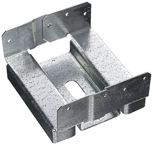 Simpson Strong Tie ABA66RZ 1 1 1 ZMAX Galvanized 14-Gauge 6-Inch by 6-Inch Rough Adjustable Post Base (Simpson Post Anchors)